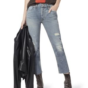 RE/DONE FREESHIP Relaxed Crop Jeans Ghost